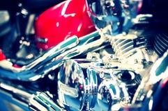 błyszczący parowozowy wielki motocykl Zdjęcie Royalty Free