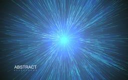 Błyszczący promieniowy wybuch z liniowymi cząsteczkami royalty ilustracja