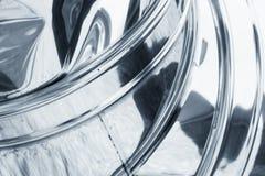 Błyszczący przegiętą metal powierzchnię, błękit tonujący zdjęcie stock