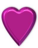 błyszczący purpurowe serce Fotografia Stock