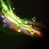 Błyszczący spływowy muzyki notatki tło i przestrzeń dla twój teksta Obraz Royalty Free