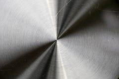 Błyszczący srebny i czarny barwiony kruszcowy talerz Zdjęcie Royalty Free