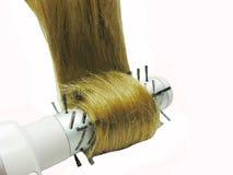 błyszczący szczotkarski ciemny włosy Obrazy Stock