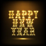 Błyszczący teksta projekt dla Szczęśliwego nowego roku 2015 świętowania Obrazy Stock