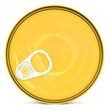 Błyszczący wierzchołek jedzenie może z pierścionkiem odizolowywającym Zdjęcia Stock