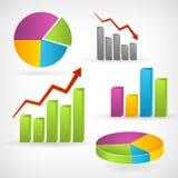Błyszczący wykresu pozytyw infographic Zdjęcie Royalty Free