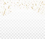 Błyszczący złoci confetti royalty ilustracja