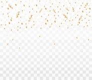 Błyszczący złoci confetti ilustracja wektor