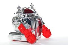 Błyszczący zabawkarski robot -4 obrazy stock