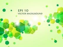 Błyszczący zielony sześciokąta tło Fotografia Stock