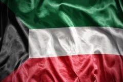 błyszczeć Kuwait flaga Obrazy Royalty Free