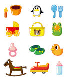 b婴孩动画片用品 免版税图库摄影
