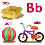 B字母表的以图例解释者 免版税图库摄影