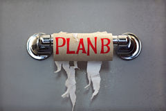b没有纸计划洗手间 免版税图库摄影