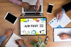 A/B测试 免版税库存照片