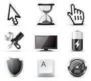 b计算机图标系列w 免版税图库摄影
