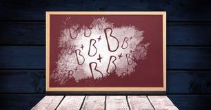 B+ επιστολές βαθμού στον πίνακα στοκ εικόνες