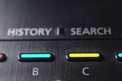B и c застегивают на remote ТВ Стоковые Фотографии RF