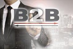 B2B показано концепцией бизнесмена стоковые фото