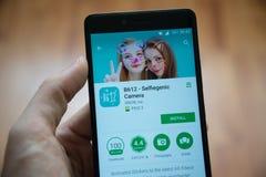 B612应用在谷歌戏剧商店 图库摄影