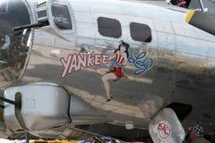B-17美国人夫人 免版税库存照片