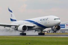 B777以色列航空公司Israsel 免版税图库摄影