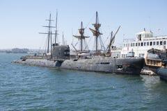 B-39苏维埃潜水艇 免版税图库摄影