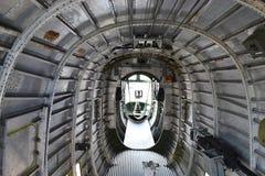 B-24轰炸机腹部 库存图片