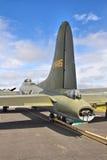 B-17飞行堡垒的尾部 库存图片