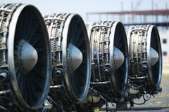 B-1 Lancer Engines. Mothballed Boeing B-1 Lancer engines Stock Images