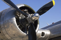 B-17 bomber engine. Propeller and engine of a B-17 bomber Royalty Free Stock Photos