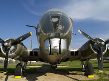B-17 Close Up. A close up of a B-17 Flying fortress. (On display at Barksdale AFB Louisiana Stock Images