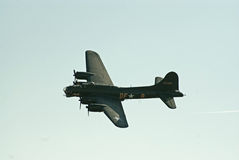 B-17 Flying Fortress in flight stock photo