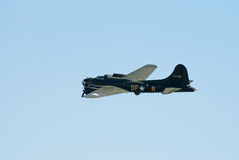 B-17 Flying Fortress in flight stock image