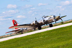 B-17 se prépare au décollage photographie stock libre de droits