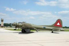 B-17 sur la piste Images libres de droits