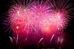 πυροτεχνήματα Γενεύη Ελ&b Στοκ Εικόνες