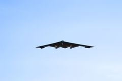 B-2 bomber. A b2 bomber flying at whiteman airforce base missouri Royalty Free Stock Photography