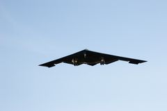 B-2 bomber 2. A b2 bomber flying at whiteman airforce base missouri Stock Photos