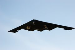 B-2 bomber 3. A b2 bomber flying at whiteman airforce base missouri Royalty Free Stock Photos