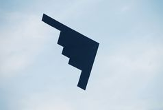 B-2 stealth bomber. State of the art us strategic bomber Royalty Free Stock Photos