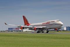 B747印度航空 库存照片
