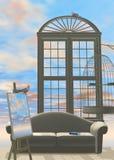 b 4 domy niebo ilustracja wektor