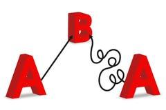 A a B 2 stock de ilustración