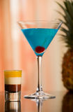 B-52 Shot and Betty Blue Cocktail Royalty Free Stock Photography