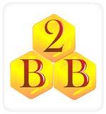 B aan B Stock Afbeeldingen