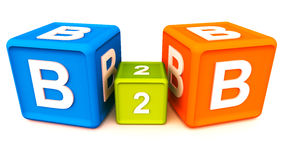 B aan B Stock Afbeelding