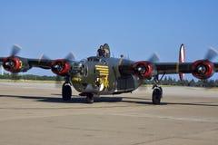 B-24 aerei del veterano del liberatore WWII Immagini Stock