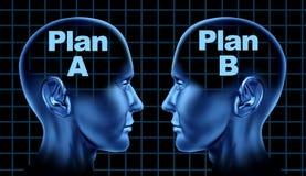 b-affärsalternativ planerar att tänka för planläggning Arkivbild