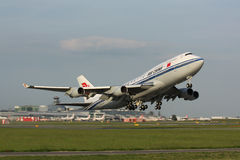 B747 Air China obrazy stock